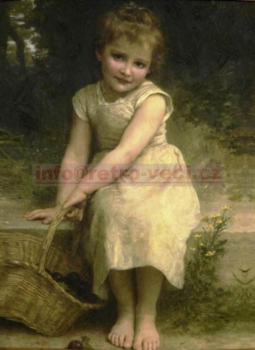 """Obraz """"Děvčátko s košíkem"""""""