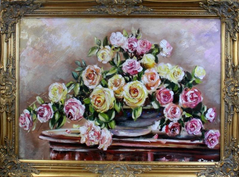 Obraz, květy B02725