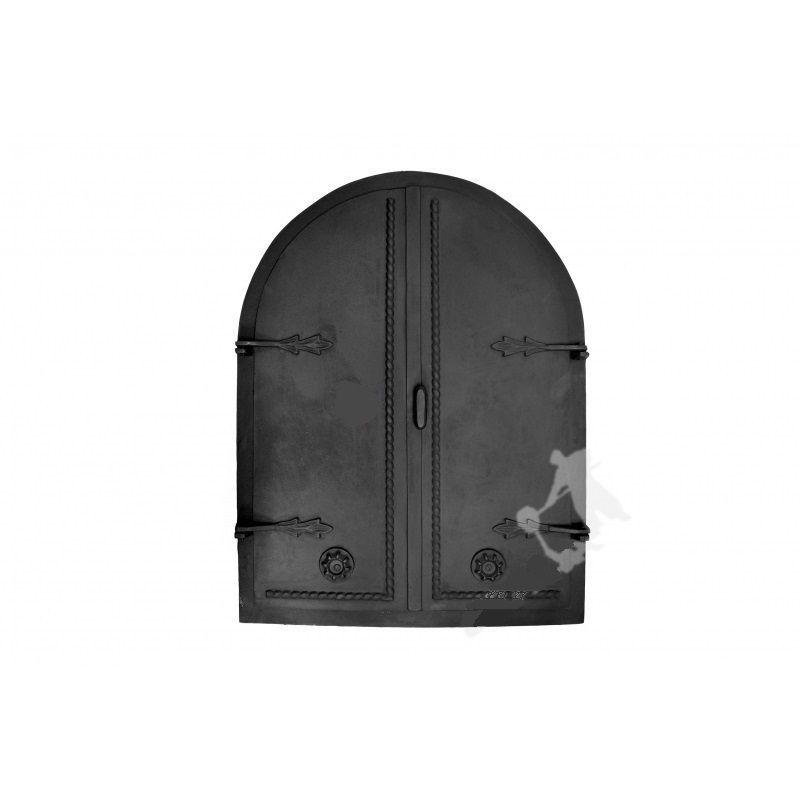 Litinové dvoukřídlé dveře GRDDWA2