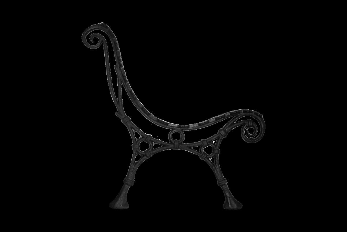 Litinová noha lavice, odpočinková.