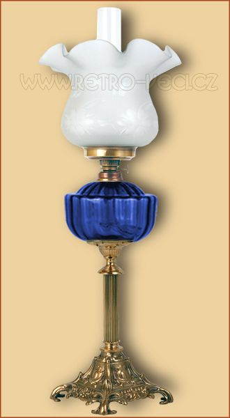 Stolní lampa petrolejová/elektrická 48CP