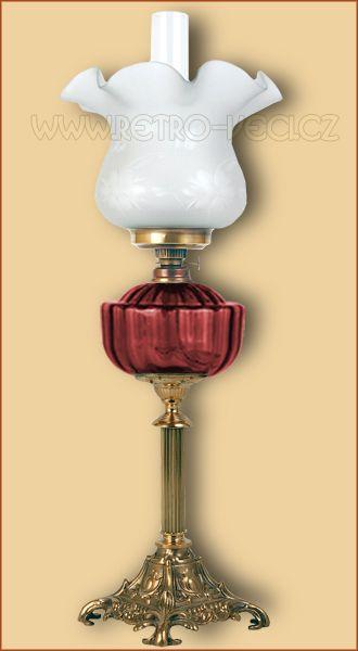 Stolní lampa petrolejová/elektrická 48RP