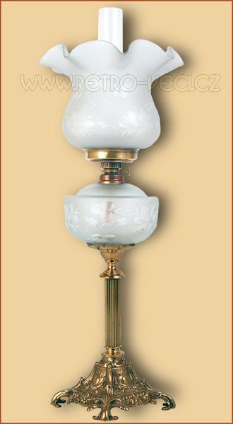 Stolní lampa petrolej/elektrická 48FP