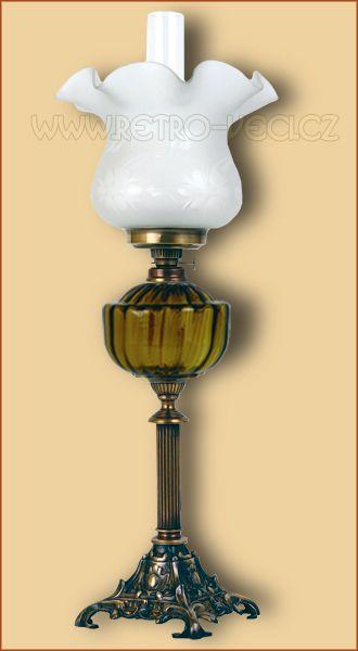 Stolní lampa petrolej/elektrická 48AO